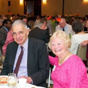 Ralph Nader '55 & Anne Stahel w'55  at AlumniCorps' 20th Anniversary Gala